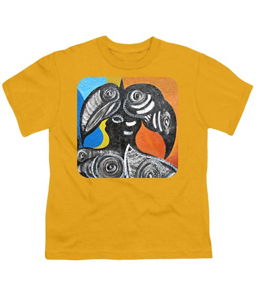 Two Toucans Youth T-Shirt by Ethna Gillespie
