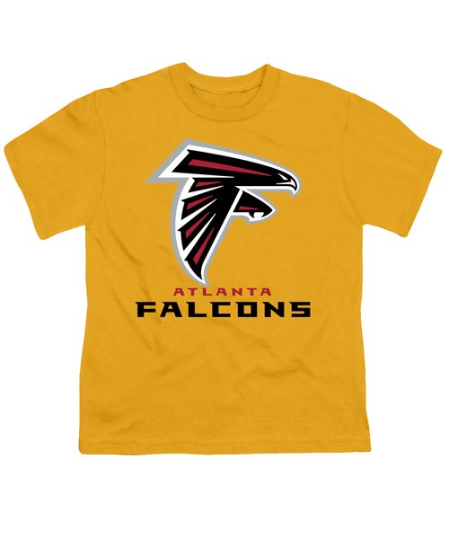 Atlanta Falcons On An Abraded Steel Texture Youth T-Shirt