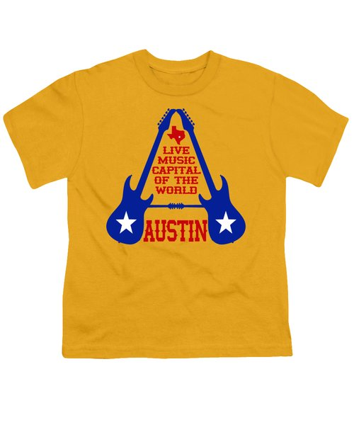 Austin Live Music Capital Of The World Youth T-Shirt