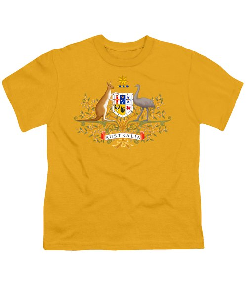 Australia Coat Of Arms Youth T-Shirt by Movie Poster Prints