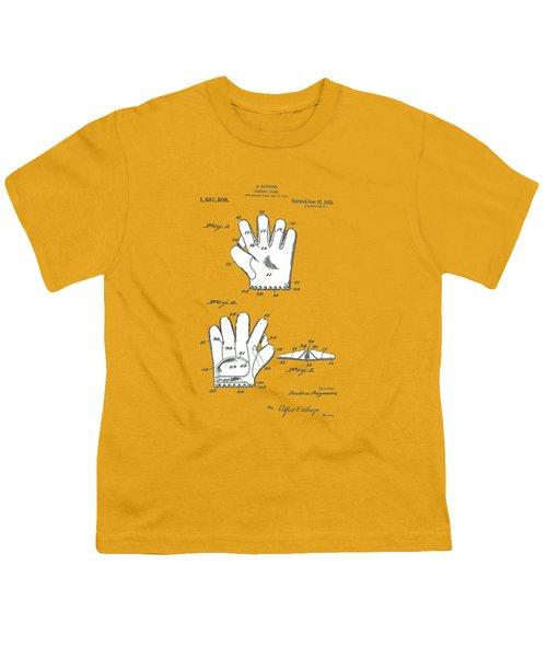 Baseball Glove 1921 Patent Youth T-Shirt