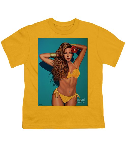 Beyonce 2 Youth T-Shirt by Paul Meijering