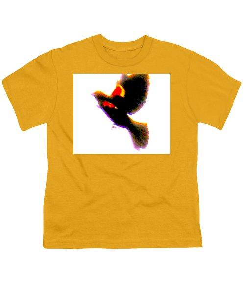 Blackbird Impressionism Youth T-Shirt by Veronica M Gabet