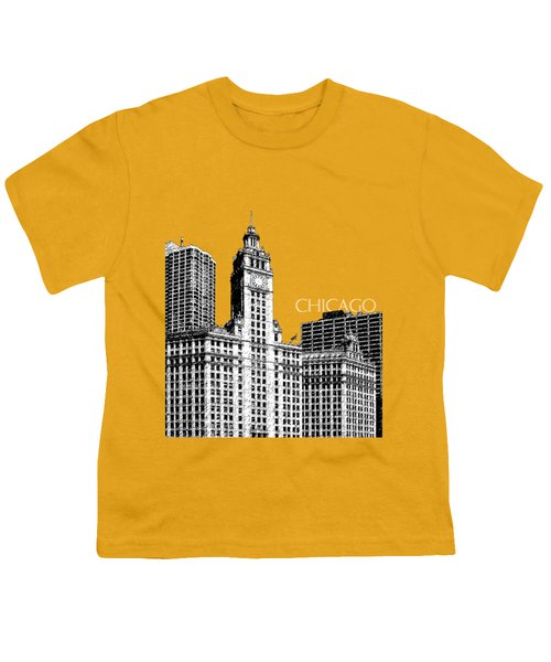 Chicago Wrigley Building - Salmon Youth T-Shirt