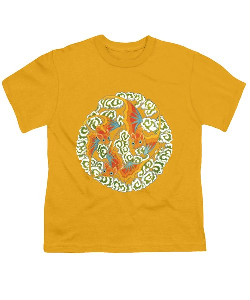 Chinese Bats Tee Shirt Design Youth T-Shirt by Bellesouth Studio
