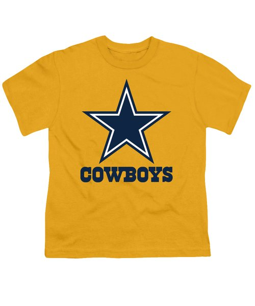 Dallas Cowboys On An Abraded Steel Texture Youth T-Shirt