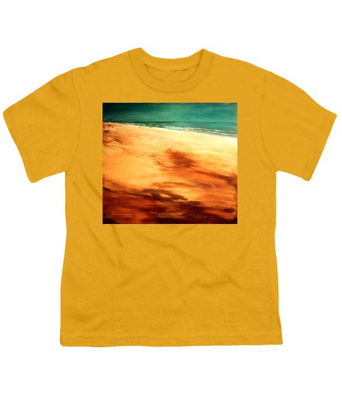 Youth T-Shirt featuring the painting Dune Shadows by Winsome Gunning