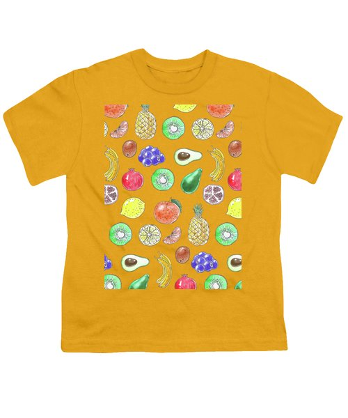 Fruit Pattern  Youth T-Shirt by Katerina Kirilova