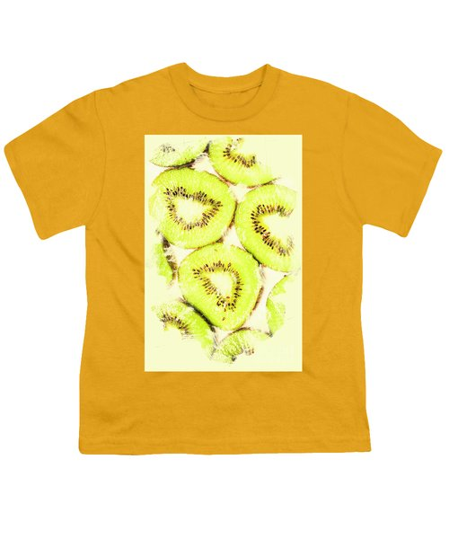 Full Frame Shot Of Fresh Kiwi Slices With Seeds Youth T-Shirt