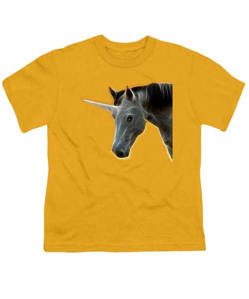 Glowing Unicorn Youth T-Shirt by Shane Bechler
