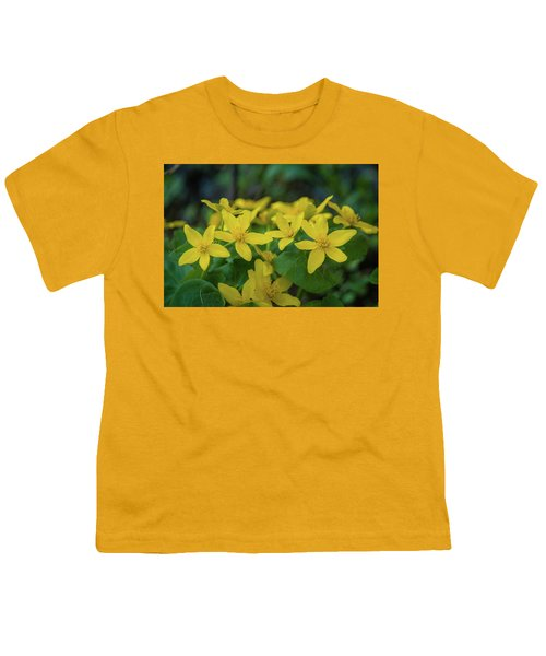 Youth T-Shirt featuring the photograph Gold In The Marsh by Bill Pevlor