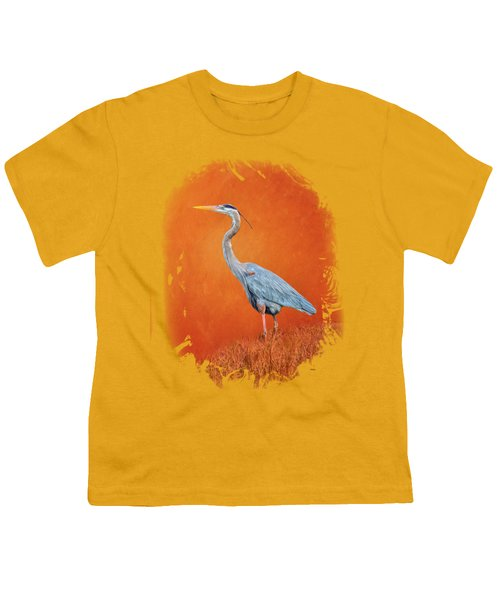 Great Blue Abstract 2 Youth T-Shirt by John M Bailey