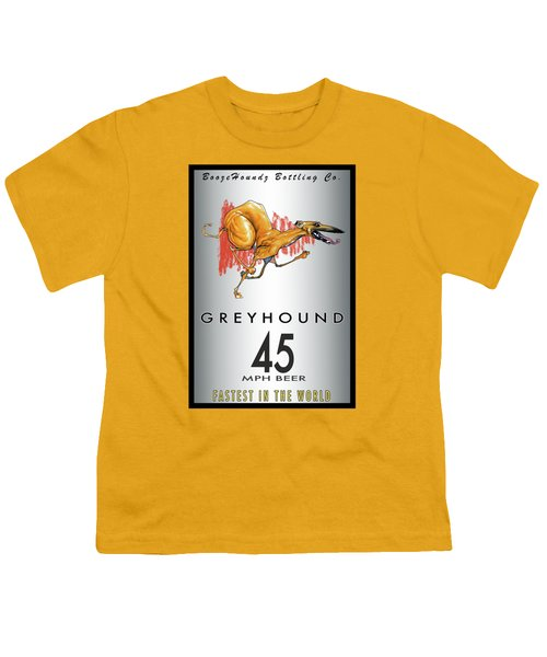 Greyhound 45 Mph Beer Youth T-Shirt