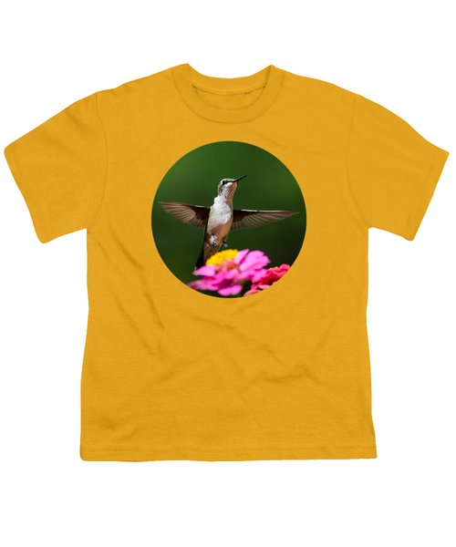 Hummingbird Youth T-Shirt by Christina Rollo