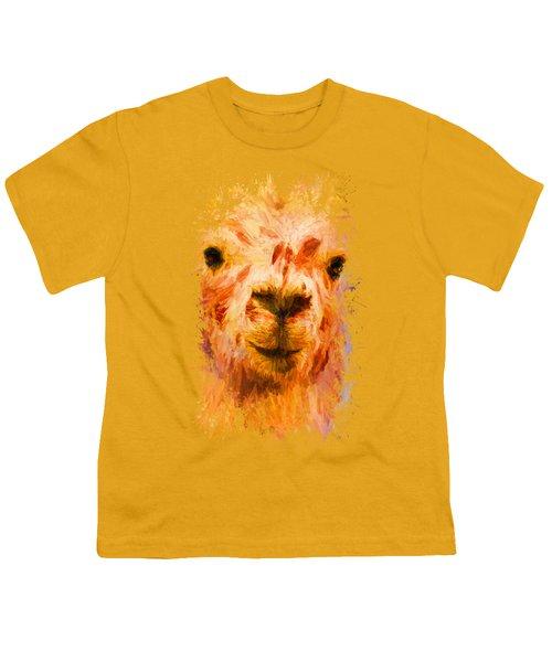 Jazzy Llama Colorful Animal Art By Jai Johnson Youth T-Shirt