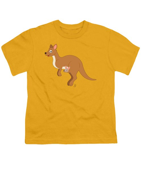 Mamma Kangaroo And Joey Youth T-Shirt by A