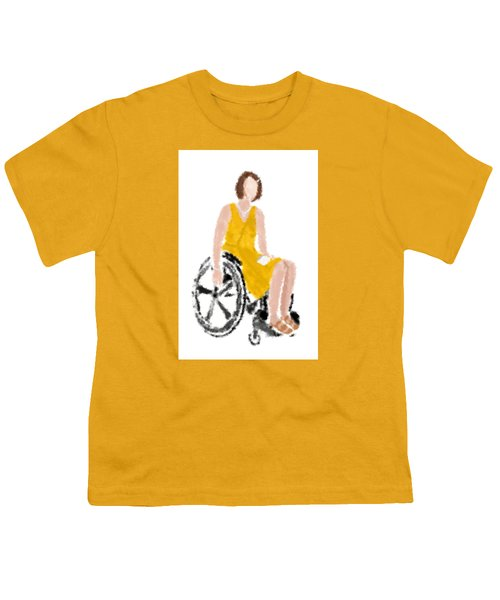 Youth T-Shirt featuring the digital art Kelly by Nancy Levan