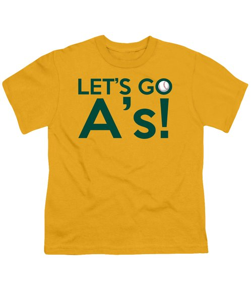 Let's Go A's Youth T-Shirt