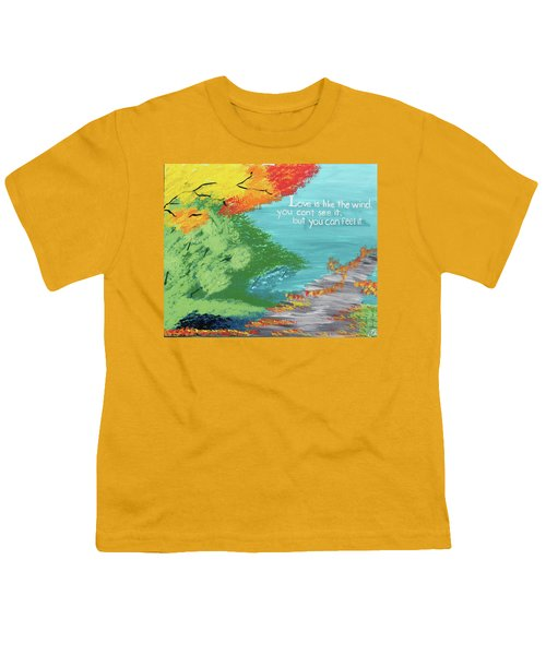 Love Like The Wind Youth T-Shirt by Cyrionna The Cyerial Artist