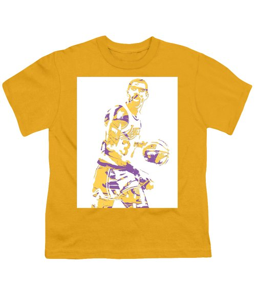 Magic Johnson Los Angeles Lakers Pixel Art 6 Youth T-Shirt