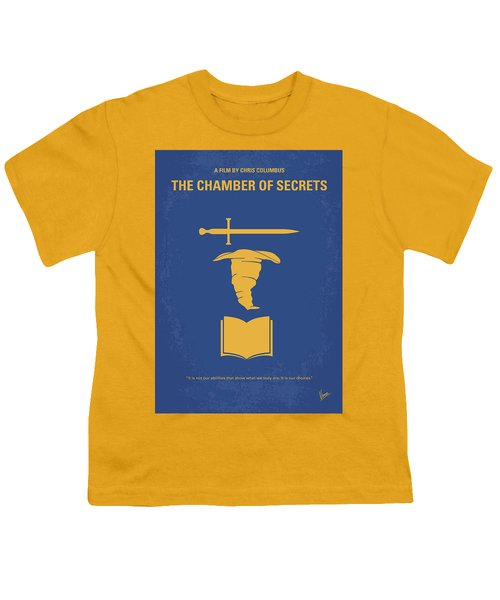 No101-2 My Hp - Chamber Of Secrets Minimal Movie Poster Youth T-Shirt