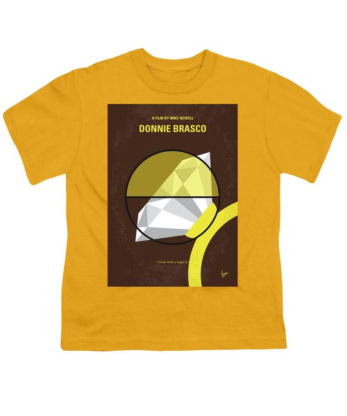 No766 My Donnie Brasco Minimal Movie Poster Youth T-Shirt by Chungkong Art