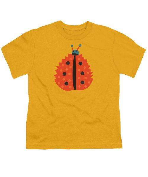 Orange Ladybug Masked As Autumn Leaf Youth T-Shirt