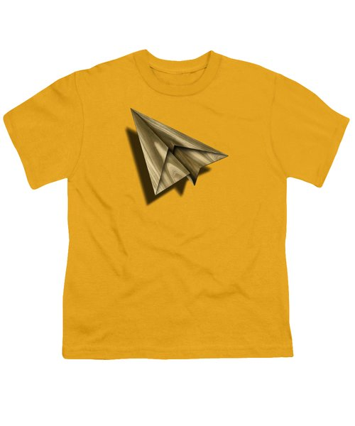 Paper Airplanes Of Wood 18 Youth T-Shirt by YoPedro