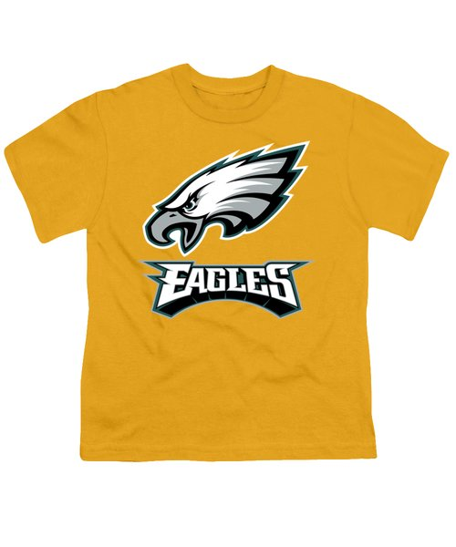 Philadelphia Eagles On An Abraded Steel Texture Youth T-Shirt