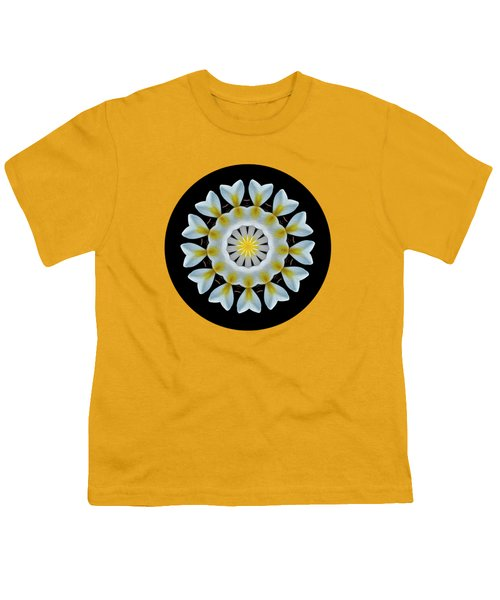 Plumeria Mandala By Kaye Menner Youth T-Shirt