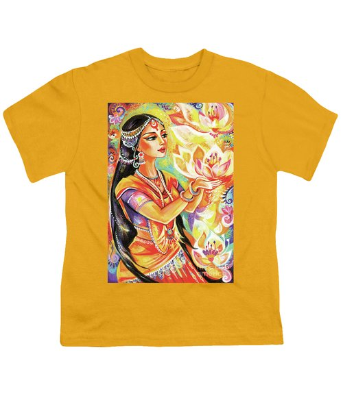 Pray Of The Lotus River Youth T-Shirt by Eva Campbell