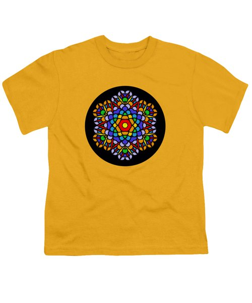 Rainbow Mandala By Kaye Menner Youth T-Shirt