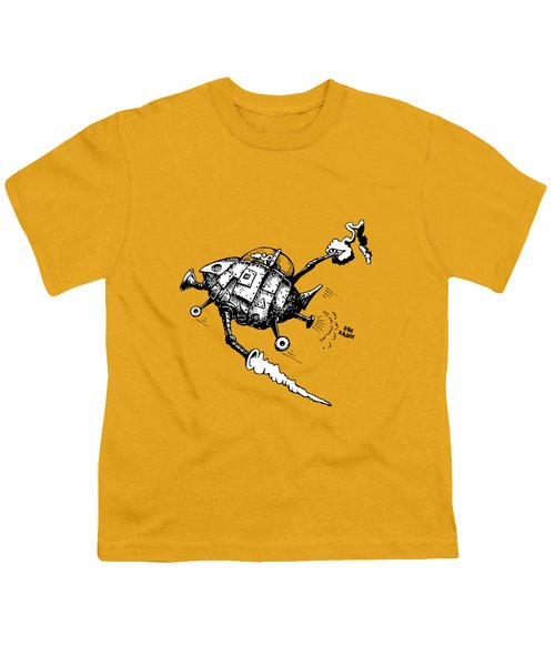 Rats In Space Youth T-Shirt by Kim Gauge