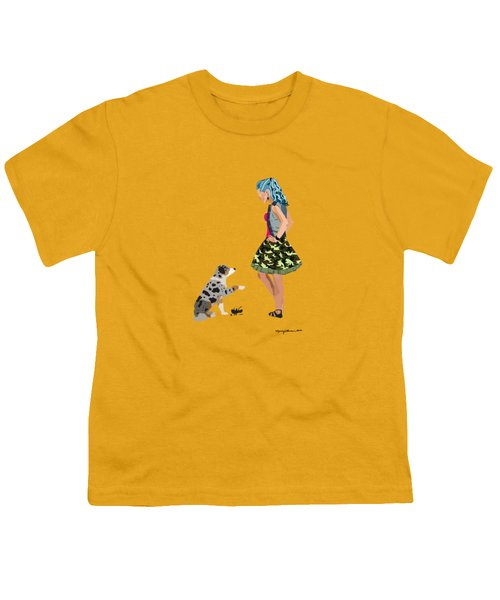 Youth T-Shirt featuring the digital art Samantha by Nancy Levan