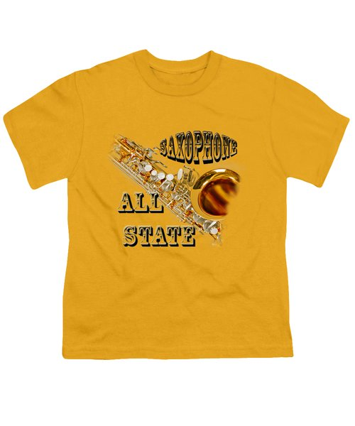 Saxophone All State Youth T-Shirt by M K  Miller