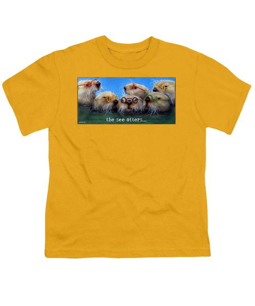 See Otters... Youth T-Shirt by Will Bullas