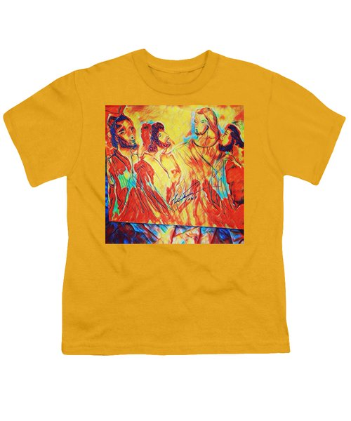 Shadrach, Meshach And Abednego In The Fire With Jesus Youth T-Shirt