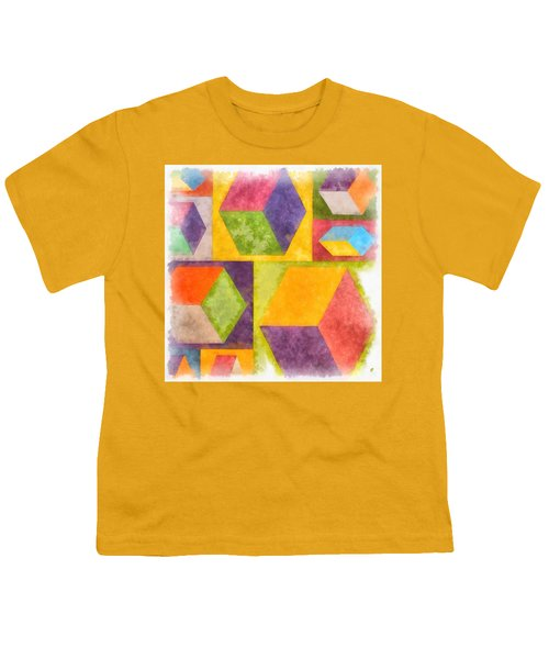 Square Cubes Abstract Youth T-Shirt