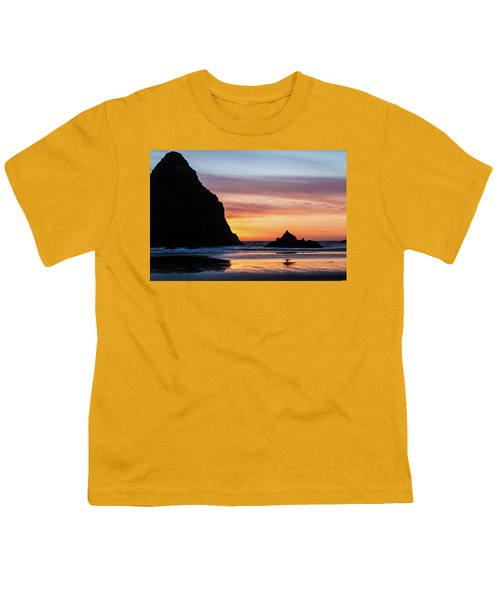 Sunset At Whalehead Beach Youth T-Shirt