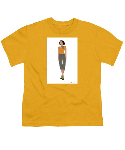 Youth T-Shirt featuring the digital art Susan by Nancy Levan