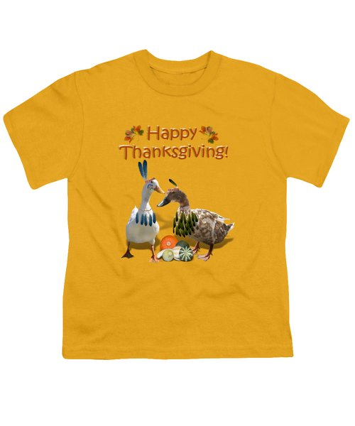 Thanksgiving Indian Ducks Youth T-Shirt by Gravityx9  Designs