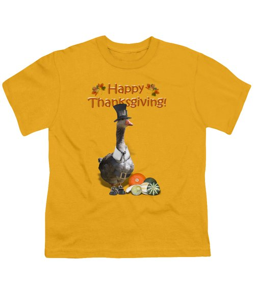 Thanksgiving Pilgrim Goose Youth T-Shirt