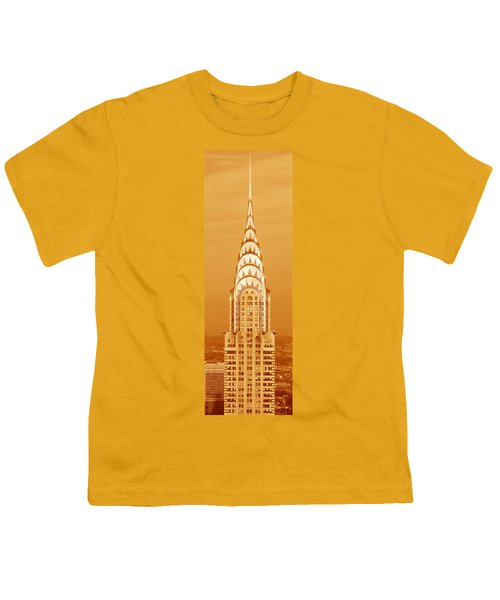 Chrysler Building At Sunset Youth T-Shirt by Panoramic Images