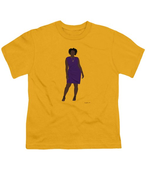 Youth T-Shirt featuring the digital art Vanessa by Nancy Levan
