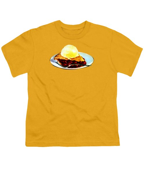 Vintage Pie A La Mode Youth T-Shirt by Historic Image