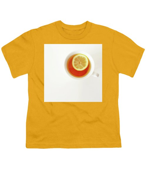 White Cup Of Tea With Lemon Youth T-Shirt