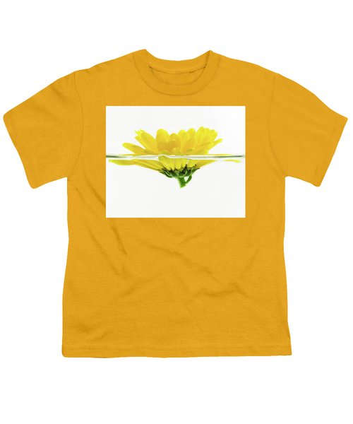 Yellow Flower Floating In Water Youth T-Shirt