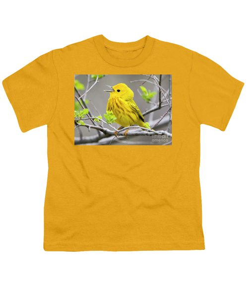 Yellow Warbler  Youth T-Shirt by Ricky L Jones