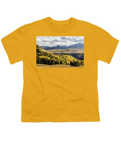 Youth T-Shirt featuring the photograph Autumn Season View Of Sneffles Ten Peak by James BO Insogna