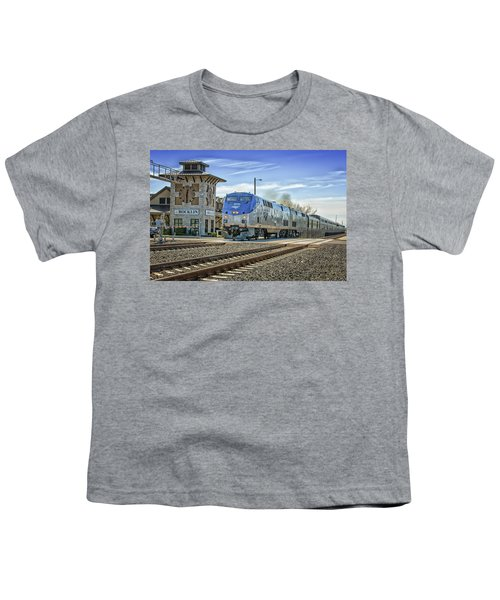 Youth T-Shirt featuring the photograph Amtrak 112 by Jim Thompson